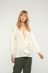 Rosalba top off white Charlie Joe