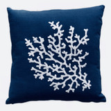 Palma Cotton Cushion Cover Navy