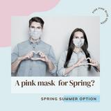 Pink Disposable Masks