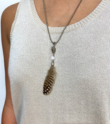 Feather skull  Necklace By IKKS