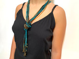 Turquoise Old Gold Necklace by IKKS