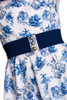 Hell bunny wide stretch belt in navy
