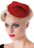 Banned apparel candice pillbox fascinator hat in red