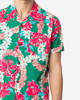 Unique Vintage x Alfred Shaheen Mala Pua Hibiscus Lei Print Men's Cabana Aloha Shirt  close up