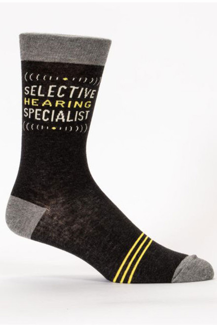blue q mens crew socks - selective hearing specialist