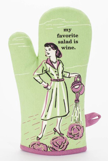 blue q oven mitt - salad is my favorite wine