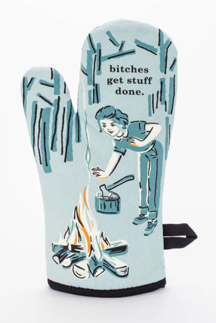 blue q oven mitt - bitches get stuff done