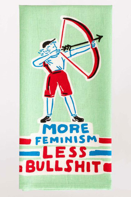 blue q dish towel - more feminism
