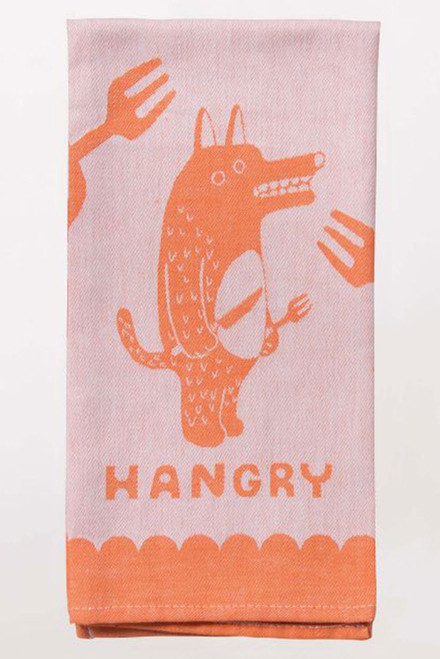 blue q dish towel - hangry