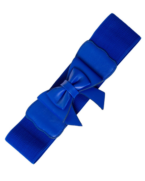 banned apparel bow play right stretch belt - royal
