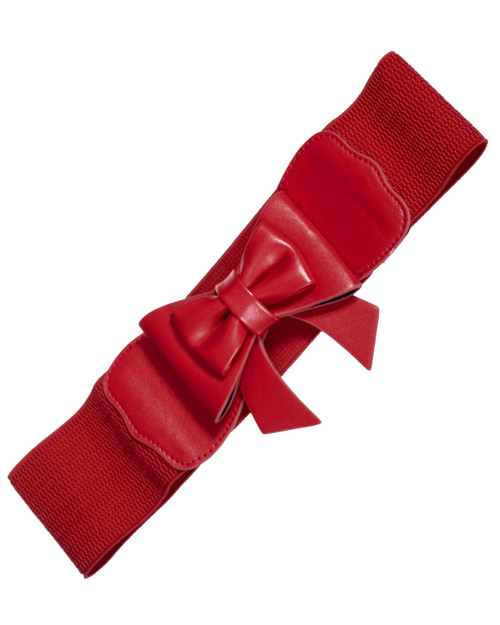 banned apparel bow play right stretch belt - red
