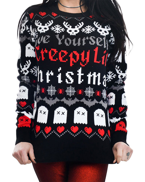 Too Fast Have Yourself A Creepy Lil Christmas Holiday Sweater