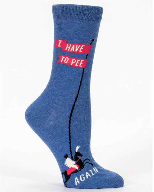 blue q womens crew socks - have to pee