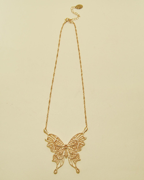 Butterfly Gold Plated Chain Necklace