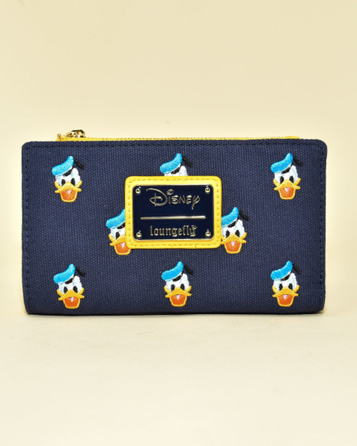 Loungefly x Disney's Donald Duck Embroidered Canvas Zip Wallet