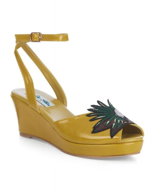 Lulu Hun Shelby Toucan Patent Ankle Strap Wedges
