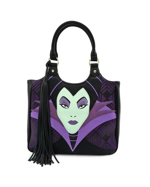 Loungefly x Disney's Maleficent Head Tote Bag front