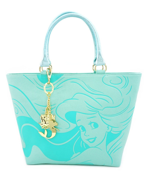 Loungefly x Disney's The Little Mermaid Ariel Debossed Tote Bag front