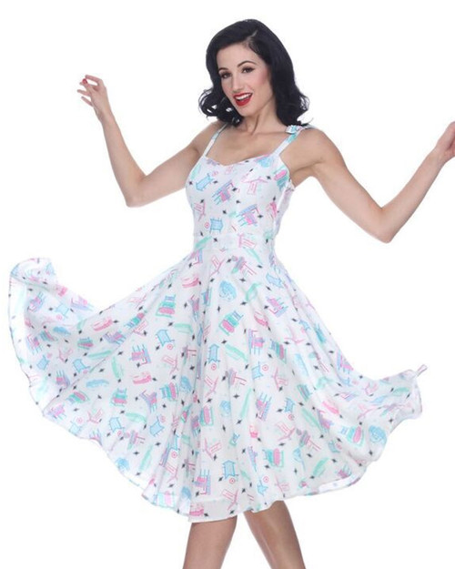 bettie page retro motel albuquerque swing dress close up
