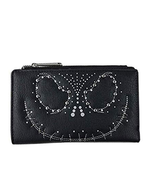 loungefly x nightmare before christmas jack skellington studded wallet
