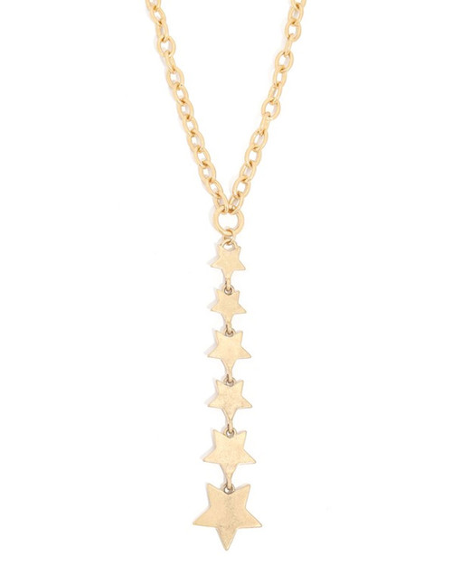 star dangle chain necklace in gold