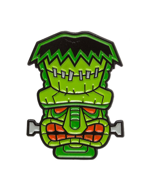 sourpuss tiki monster enamel pin