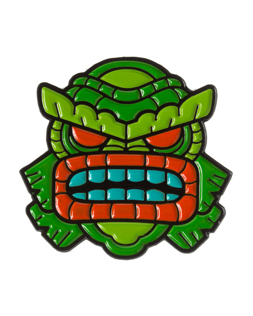 sourpuss tiki creature enamel pin