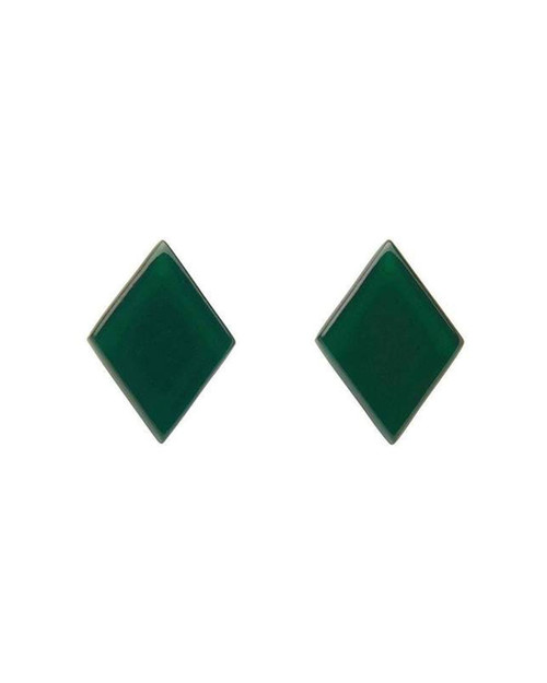 erstwilder diamond bubble resin stud earrings - emerald