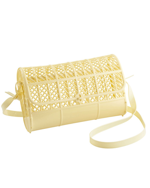 sun jellies crossbody purse in light yellow