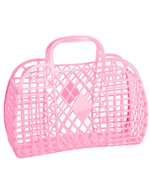 Sun Jellies large retro basket bag in pink