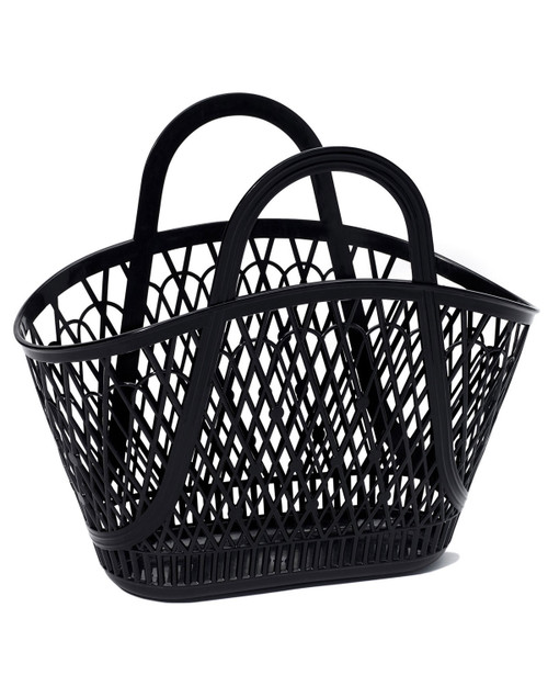 sun jellies retro betty basket bag in black
