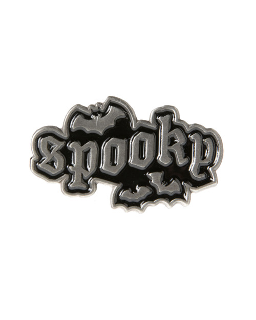 Sourpuss spooky bat enamel pin