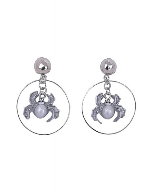 Collectif Spider Hoop Drop Earrings