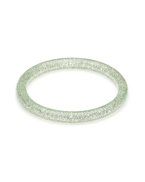 Splendette Retro Narrow Lichen Glitter Resin Bangle