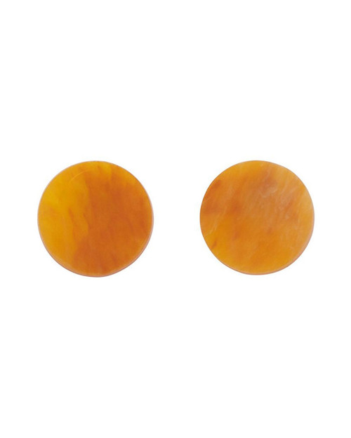Erstwilder Circle Marbled Resin Stud Earrings