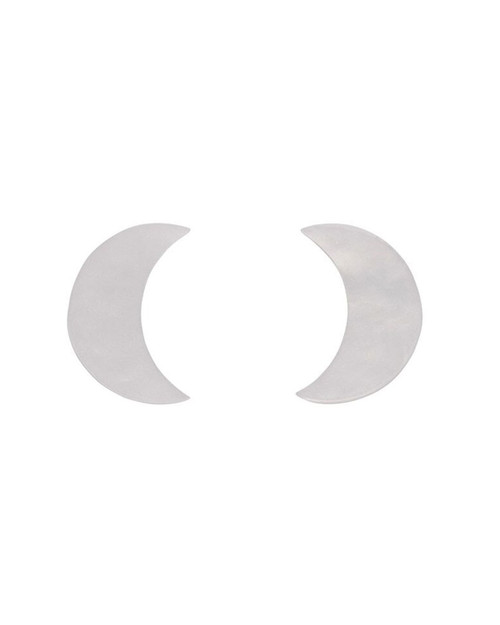 Erstwilder Crescent Moon Ripple Resin Stud Earrings