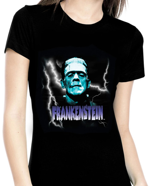 Rock Rebel Blue Frankenstein Graphic Tee