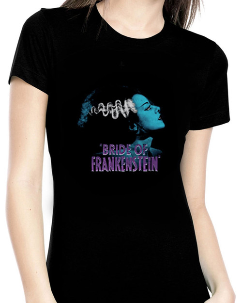 Rock Rebel Blue Bride of Frankenstein Graphic Tee