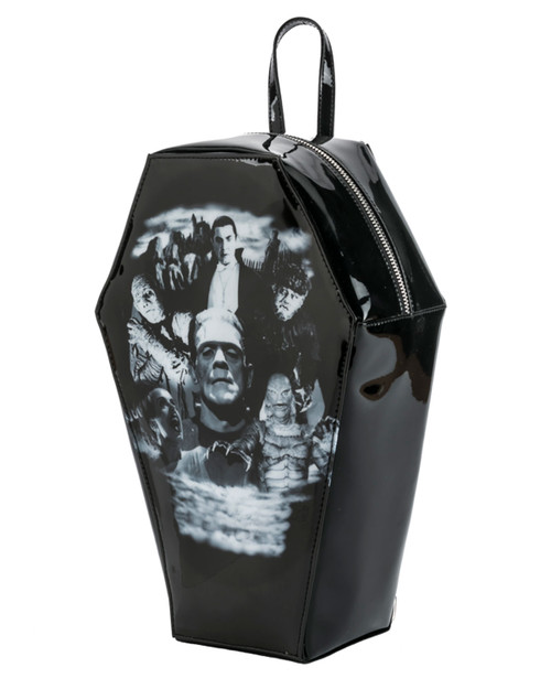 Rock Rebel Universal Monster Collage Coffin Mini Backpack