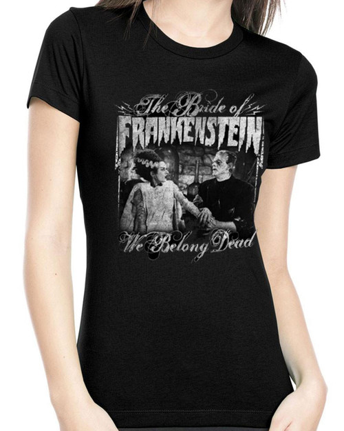 Rock Rebel We Belong Dead Bride of Frankenstein Graphic Tee
