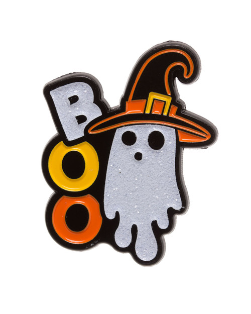Sourpuss BOO Ghost Witch Enamel Pin
