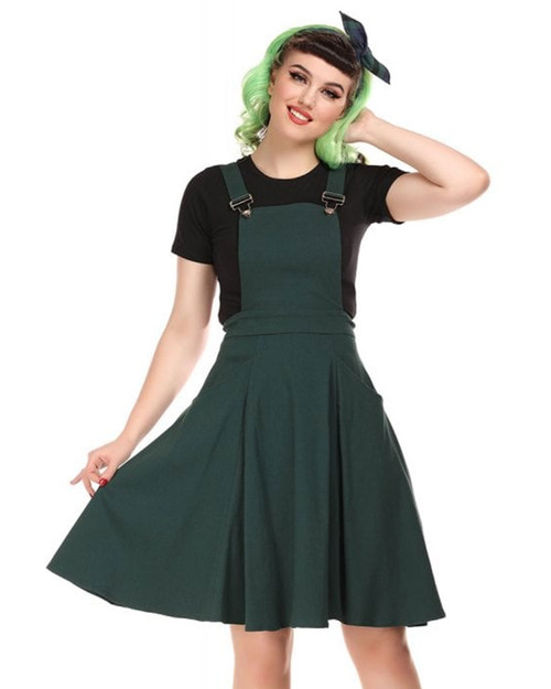Collectif Kayden Overall Pinafore Swing Dress
