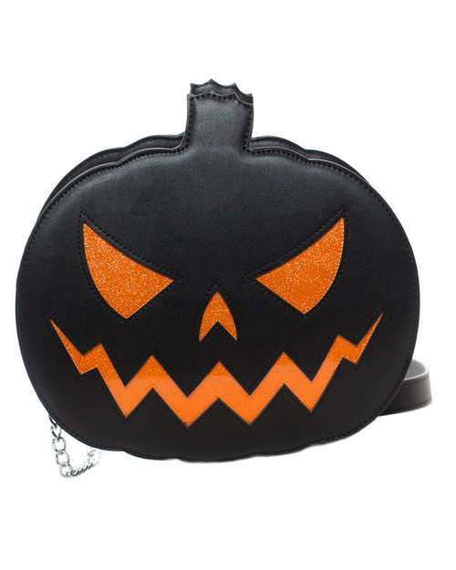 Sourpuss Pumpkin Sparkle Crossbody Purse