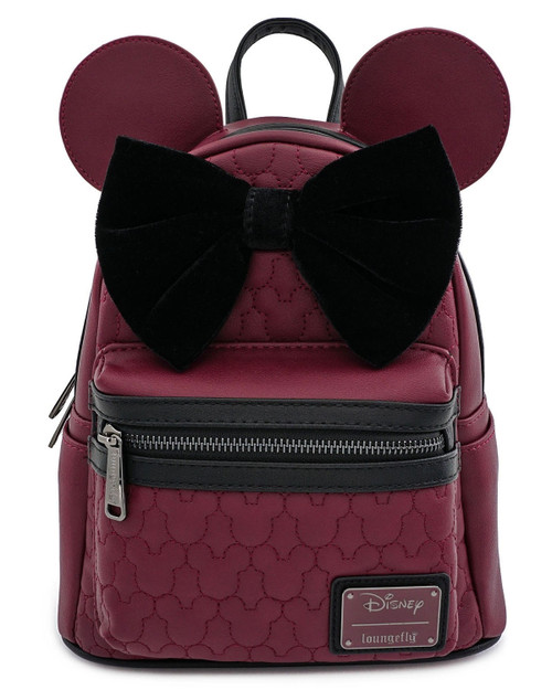 Loungefly x Disney's Minnie Mouse Quilted Mini Backpack