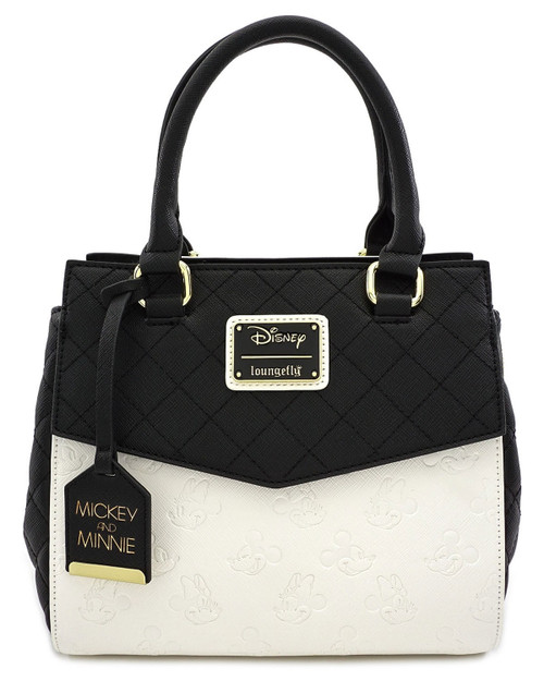 Loungefly x Disney's Mickey & Minnie Debossed Handbag