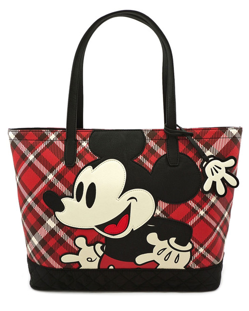 Loungefly x Disney's Mickey Mouse Plaid Tote Bag