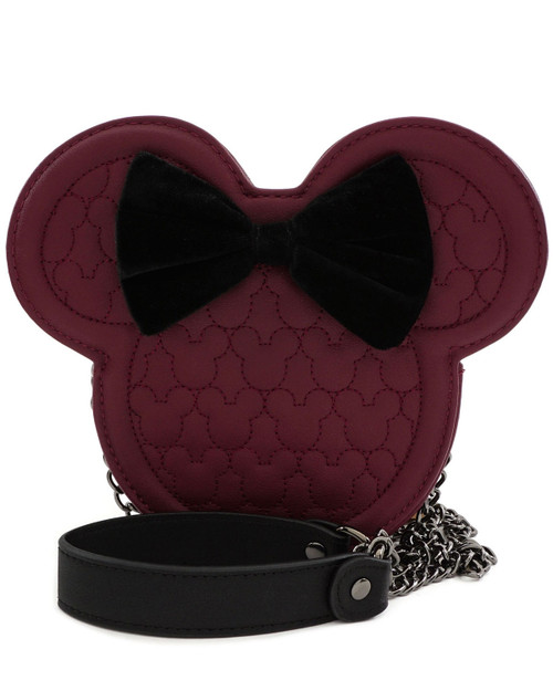 Loungefly x Disney's Minnie Mouse Quilted Silhouette Head Crossbody Bag