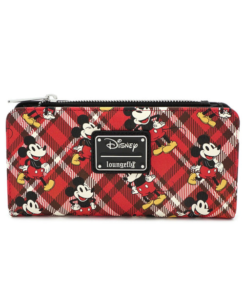 Loungefly x Disney's Mickey Mouse Plaid Wallet