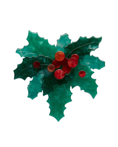 Erstwilder x All Wrapped Up Holly Jolly Brooch