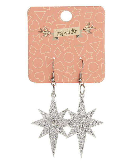Erstwilder Starburst Glitter Dangle Earrings